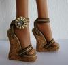 Cork wedge soles